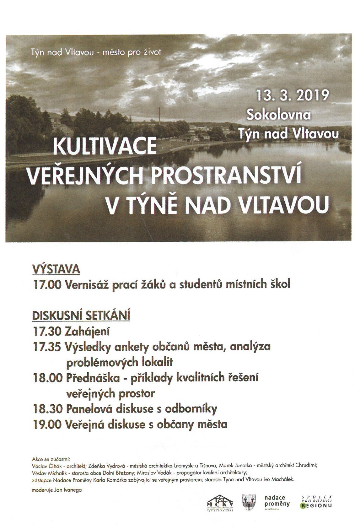 Pozvánka 13.3.2019 Sokolovna Týn nad Vltavou