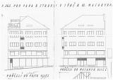 Původní plán domu U Straků